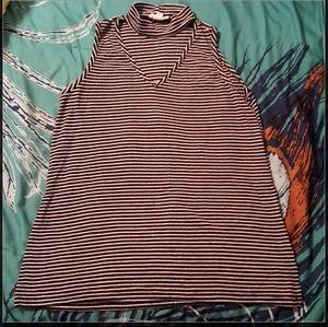 Striped Chocker Neck Top